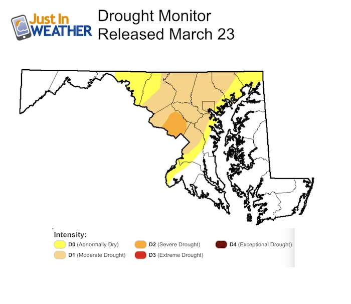 Moderate Drought Conditions As We Begin Spring Just In Weather