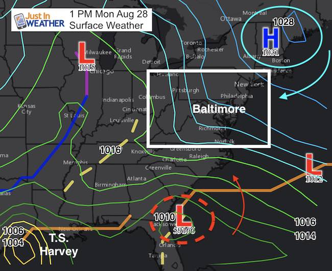 Harvey Giving Us Clouds Today But New Storms Brings Rain Tomorrow - Where are cyclones weather map us
