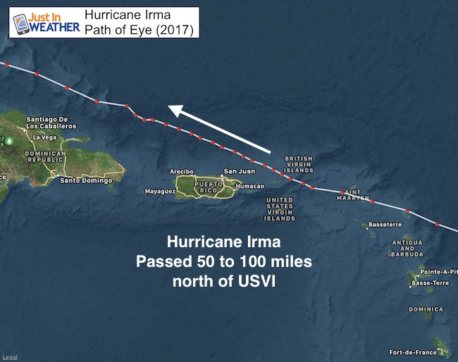 Major Hurricane Maria Near Direct Hit On Us Virgin Islands And - Map-of-us-virgin-islands-and-puerto-rico
