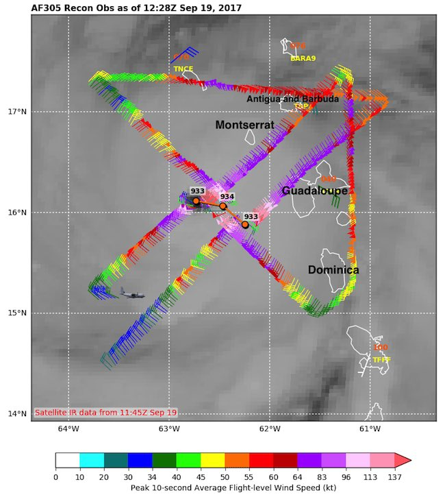 Hurricane Maria Morning Air Force Recon Mission Shows It Is
