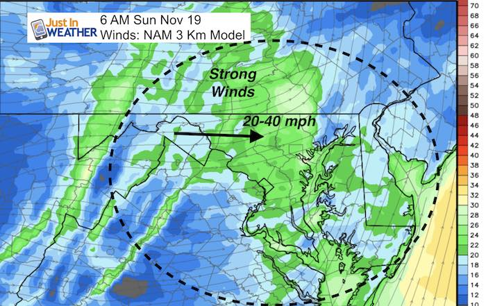 strong winds Sunday
