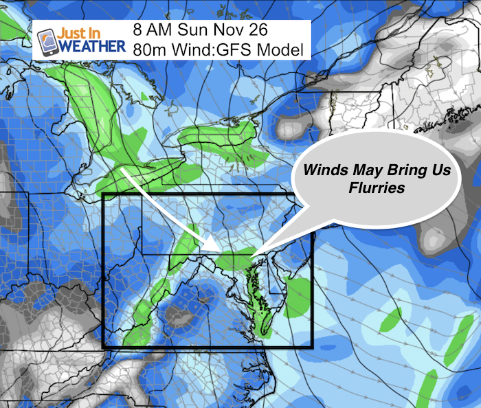Sunday November 26 Flurries