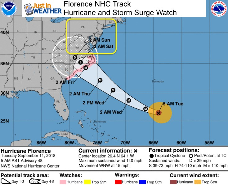 Hurricane And Storm Surge Watch Issued For Florence But First Fog