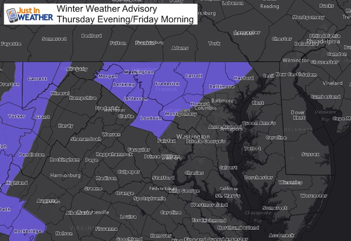 Winter Weather Advisory Tonight With Some Impact Friday Then