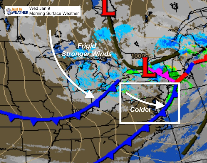 Colder Winds And Snow Flurries Today As Weekend Storm Details