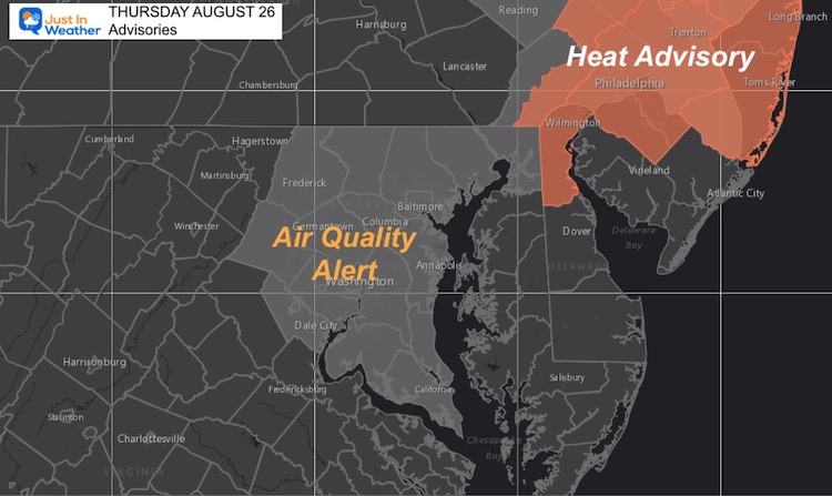 Poor Air Quality and Heat Advisory