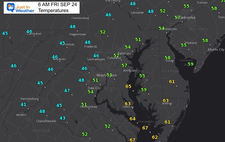 Chilly Start to Friday